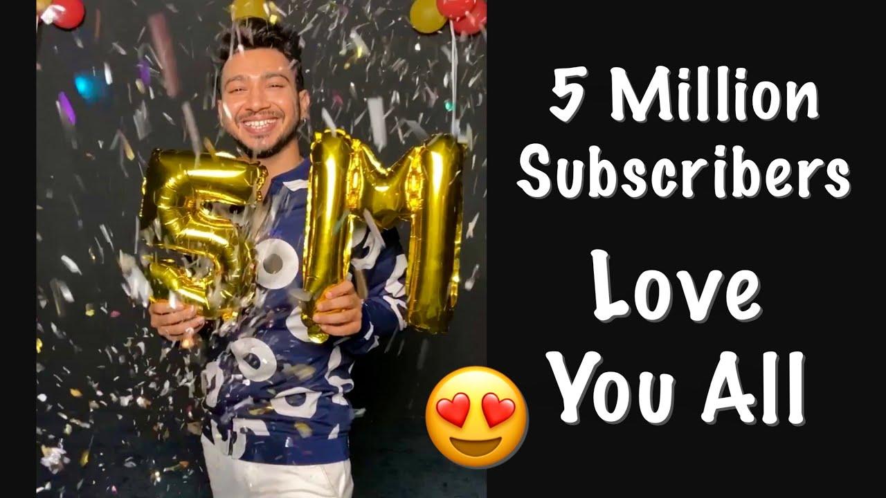 5 Million Subscribers 😍 Love You Guys ❤️😘 #shorts #vickypateldance #ytshorts