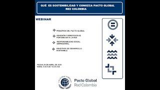 Webinar: Qué es sostenibilidad y conozca Pacto Global Red Colombia