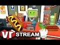 Job Simulator VR   Virtual Reality Convenience Store Gameplay   VIVE Live Stream