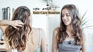 My Minimal, Zero Waste Hair Care Routine for Healthy and Shiny hair ✨ Vegan & Cruelty Free  🙌🏼