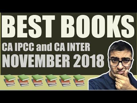 Best Books For November 2018 CA IPCC and CA Inter 📚📚📚