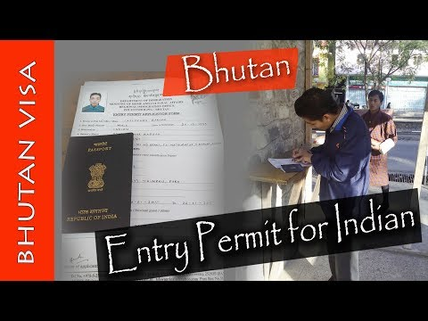 Bhutan Entry Permit/Pass for Indian Tourists || Easy Procedure ||#Rajlochan
