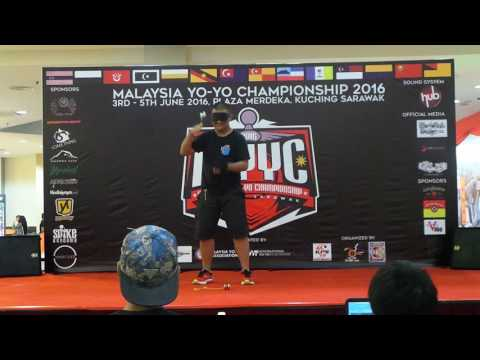 Malaysia Yoyo Championship 2016 BlindFold Div Jacky Lee( Risk Taker Freestyle)