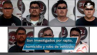 Al parecer son integrantes de una banda delictiva y son investigados por su probable participación en al menos ocho raptos, homicidio y robos de vehículo en esta región del Estado de México