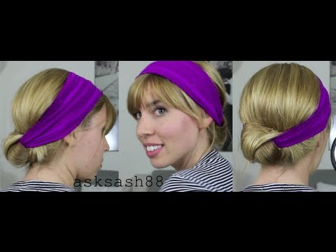 headband bun - quick easy hairstyles