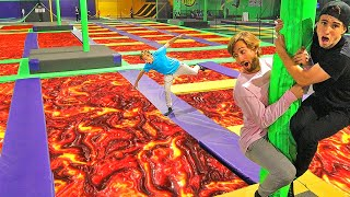 EXTREME Floor Is LAVA at TRAMPOLINE PARK!