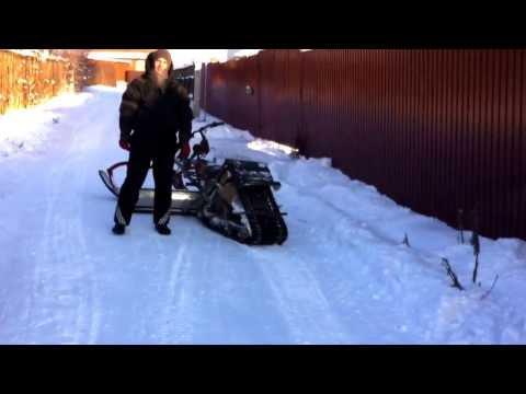 видео: Снегоход своими руками часть 1.1