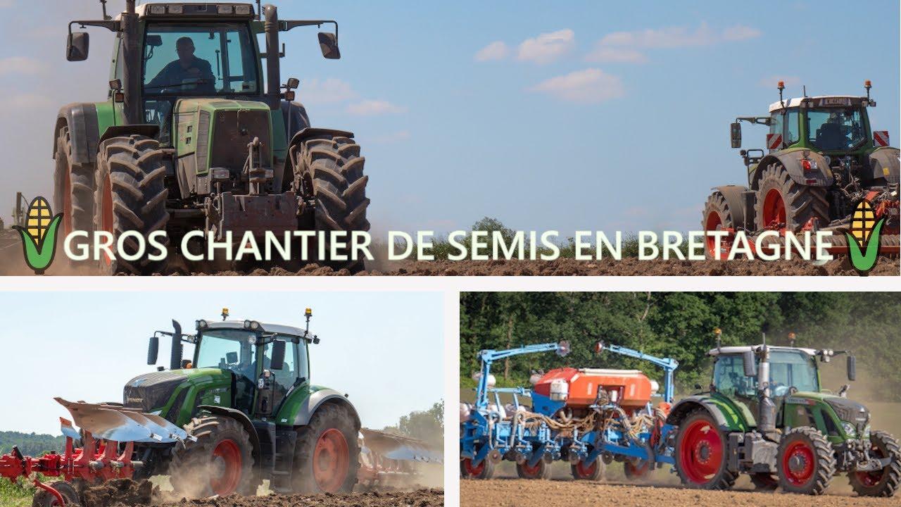 🇫🇷🌱 5 FENDT pour un gros chantier de semis en BRETAGNE 😍