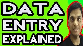 Data entry explained | Data Entry Tutorial | Types of data entry | MS word, Excel, web research