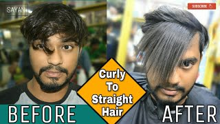 Permanently Hair Straightning For Men | Keratin Treatment | HINDI | Demo Video