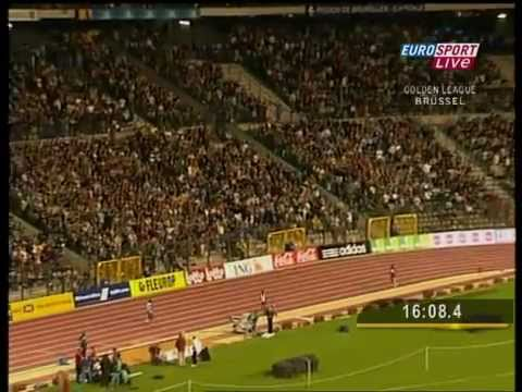 "Record du monde du 10000m masculin : Kenissa Bekele (26'17""53), Bruxelles 2005 2/2"