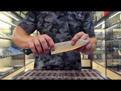 Нож Сантоку PRO Дамаск (F-659)