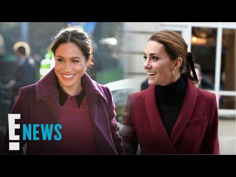 Meghan Markle and Kate Middleton Are Twinning in Burgundy | E! News