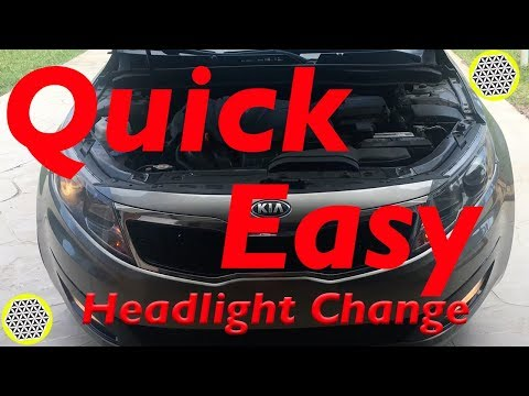 How to Change Headlight Bulbs on 2011-2013 Kia Optima- QUICK N EASY!!!