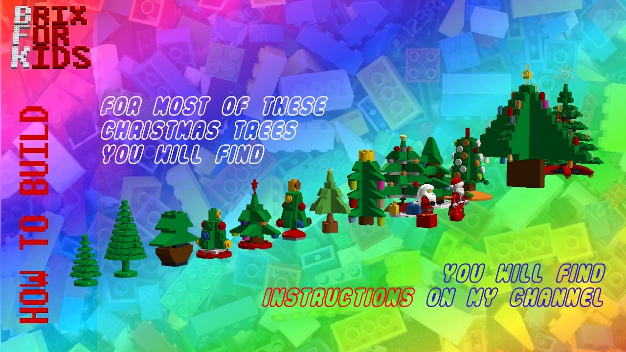 Collection Of LEGO Christmas Trees