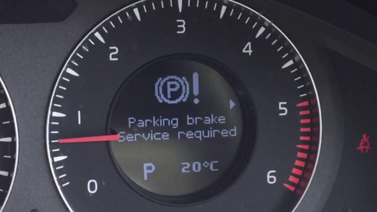 Volvo Electric Parking Brake Fault How To Release In A Emergency Xc70 V70 S70 C70 S80 S90 V90 Xc90