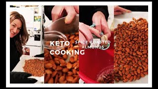 SPICY ROASTED ALMONDS | KETO COOKING | Suz and The Crew