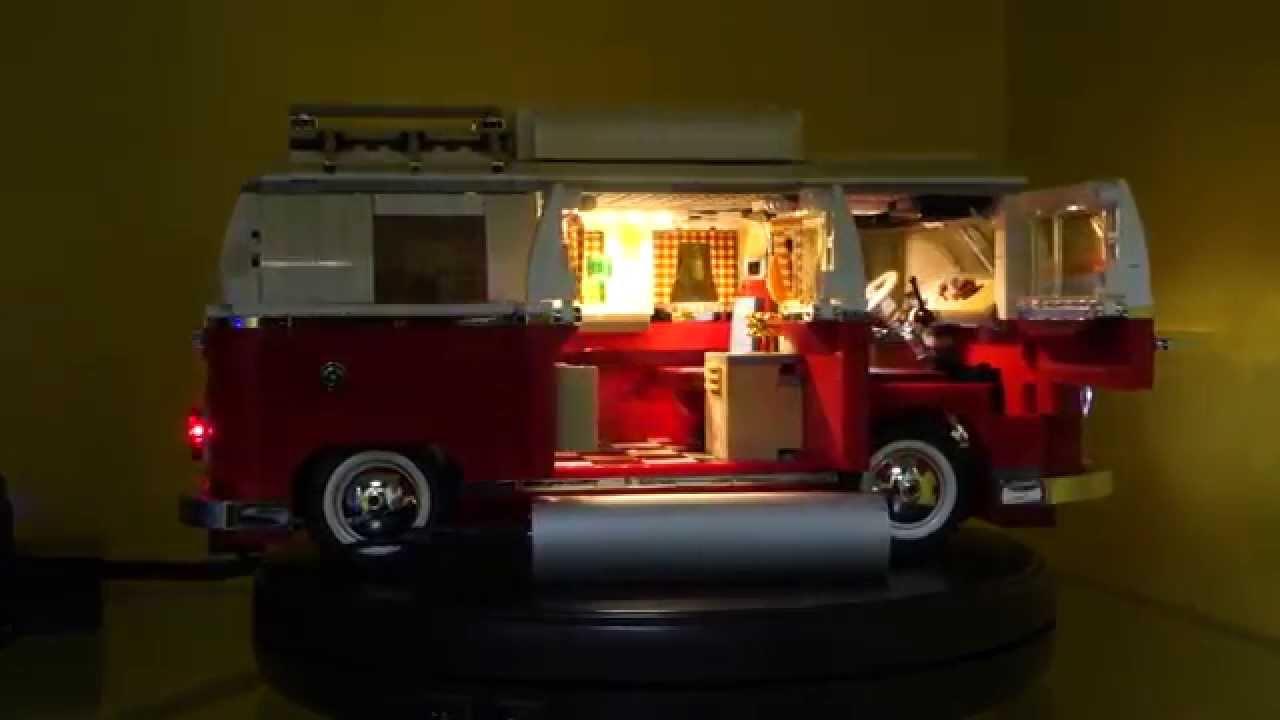 lego 10220 volkswagen t1 camper van led demo