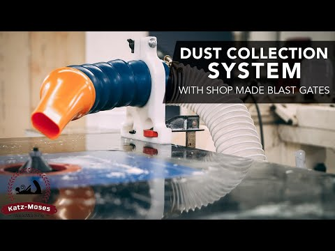 Dust Collection Install with Lots of Tips,Tricks and Shop Made Blast Gates