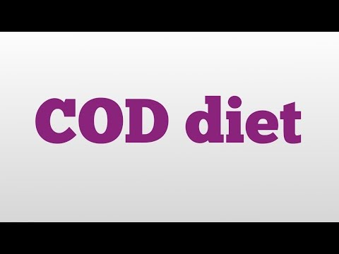COD diet meaning and pronunciation