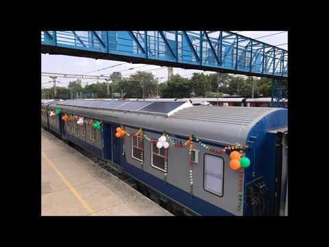 Prabhu launches First Solar powered DEMU train of INDIA