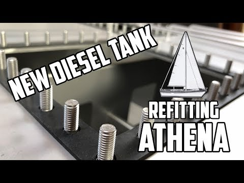 Sail Life - The new diesel tank & back in the engine compartment - diy sailboat refit