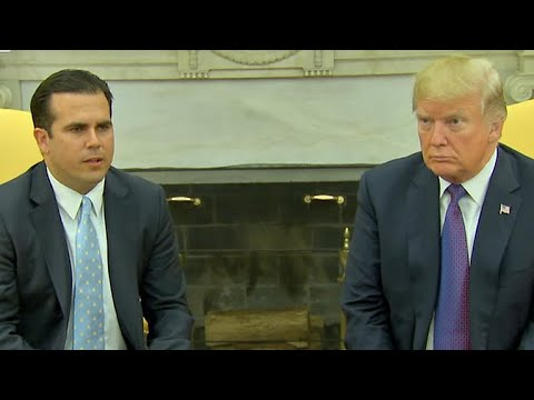 "Trump gives Puerto Rico hurricane response team a ""10"""