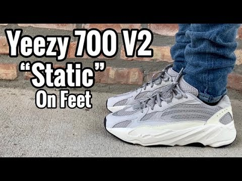 "99f4e4148bc adidas Yeezy 700 BOOST V2 ""Static"" on feet - YouTube"