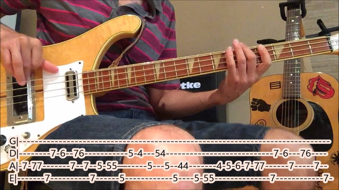 The Rolling Stones Sympathy For The Devil Bass Cover With Tabs