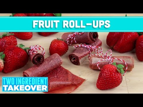 Homemade Fruit Leather (Healthy Fruit Roll Ups) 2 Ingredient Takeover - Mind Over Munch