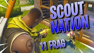 SEASON 1 SCOUT SKIN 11 FRAG GAME - Fortnite Battle Royale Gameplay