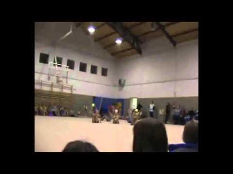 Exhibición Navidad Gimnasia Rítmica Conjunto 5 pelotas Serranillos del Valle