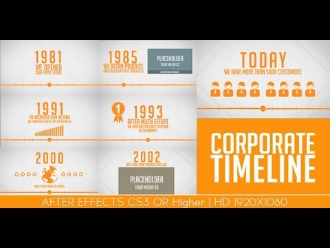 After Effects Templates Corporaet Timeline Wwwistockpluscom - After effects timeline template