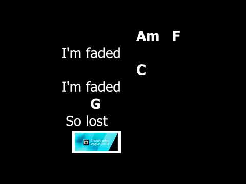 Faded - Alan Walker Chord guitar