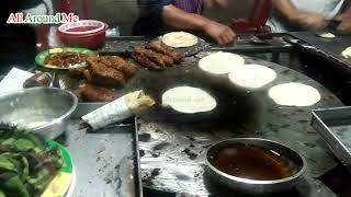 Tasty Indian Street Food Recipe Special Chicken Fry With Flatbread in Kolkata
