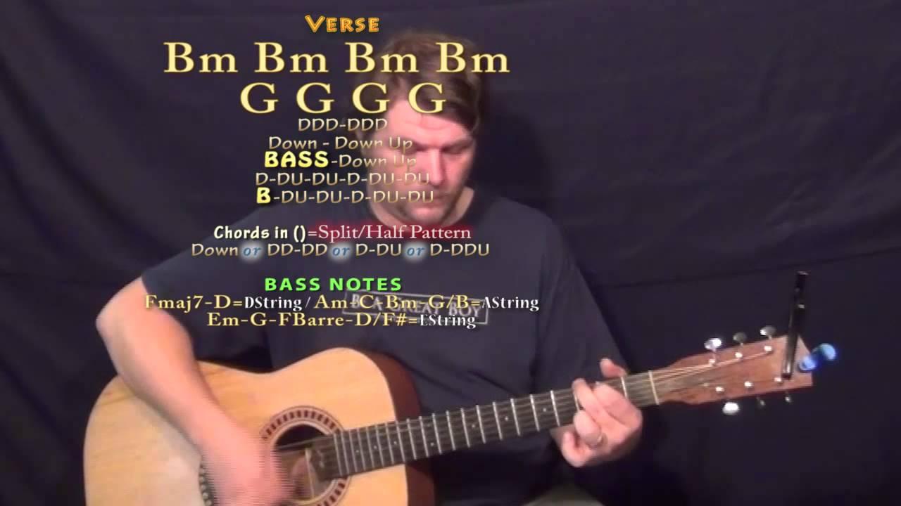 Powerful Major Lazer Guitar Lesson Chord Chart Bm G Em D A Youtube