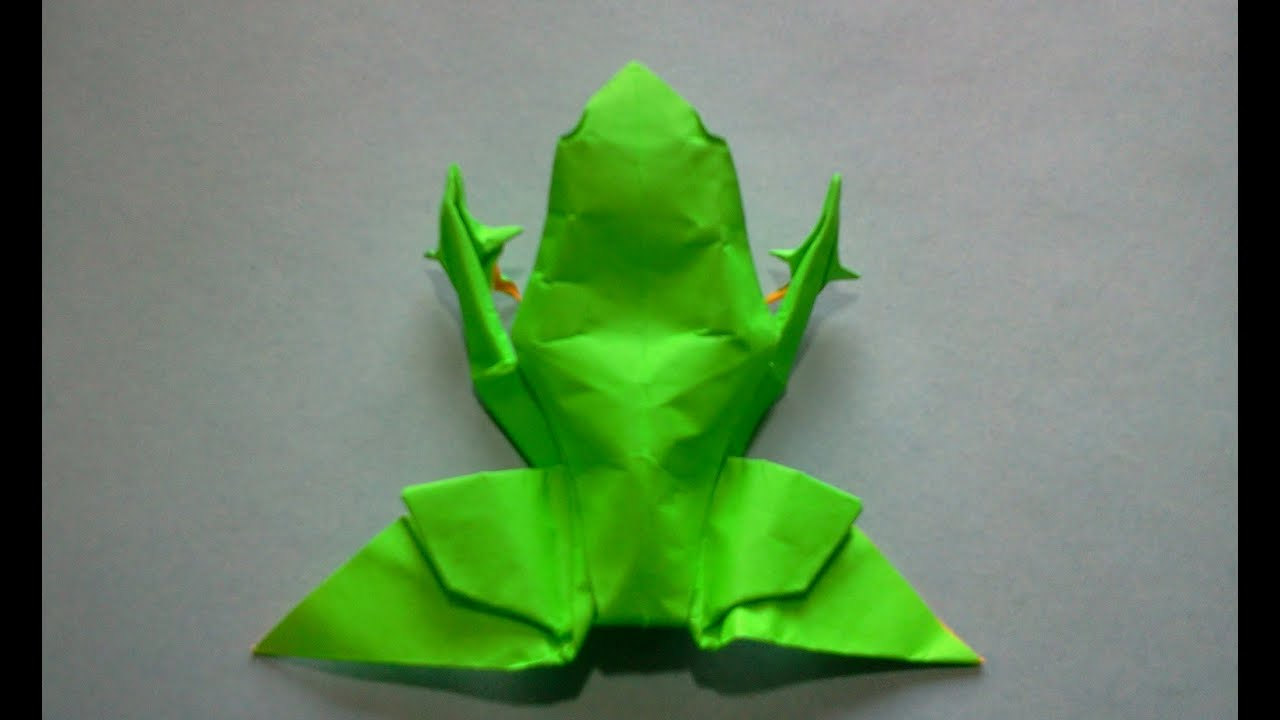 How to make origami frog michael g lafosse youtube jeuxipadfo Image collections