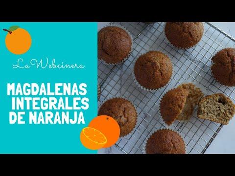 Magdalenas de NARANJA, integrales y SIN AZÚCAR
