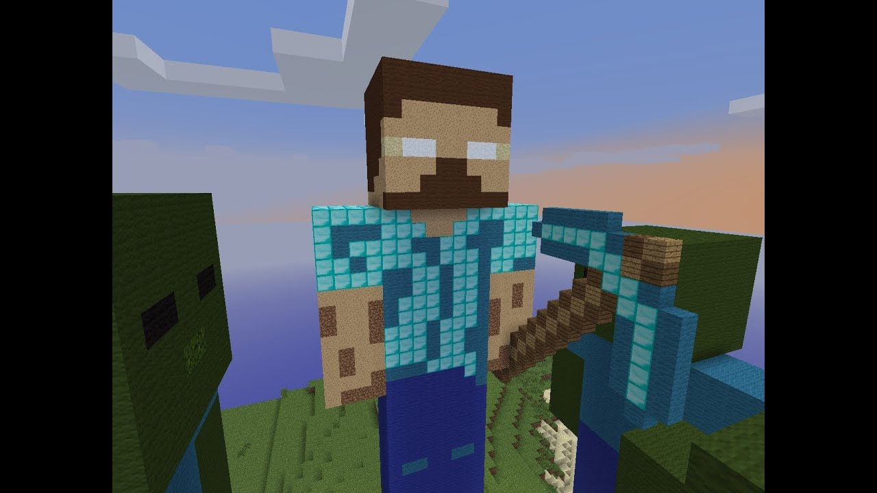 Herobrine is the king speed build herobrine zombies for Zombie build