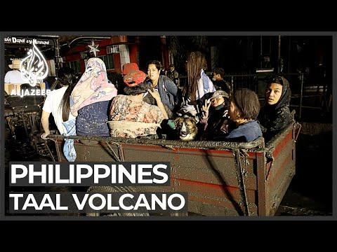 Philippines volcano eruption