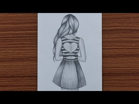 how-to-draw-easy-girl-with-beautiful-dress---step-by-step