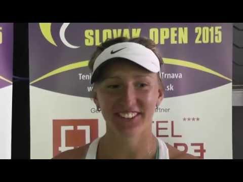 EMPIRE Slovak Open 2015: 2R, Tereza Smitkova - Yuliya Beygelzimer  6-2, 4-6, 6-1
