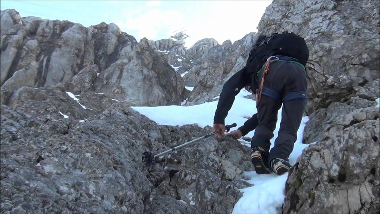 Klettersteig Zugspitze Stopselzieher : Zugspitze aufstieg über stopselzieher youtube