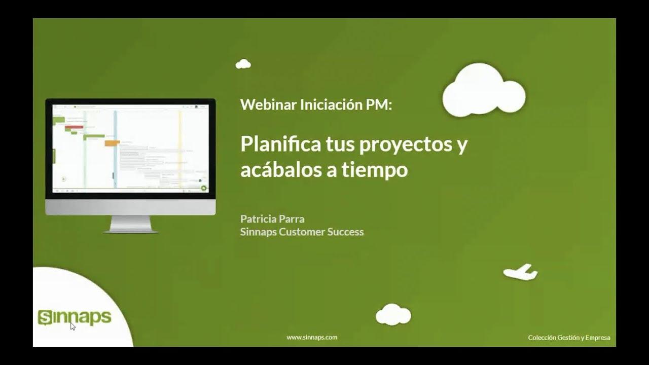 Project Manager: Webinar de iniciación a Sinnaps