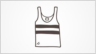 how to draw vest step by step for kids