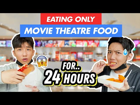Eating ONLY MOVIE THEATRE FOOD For 24 HOURS!