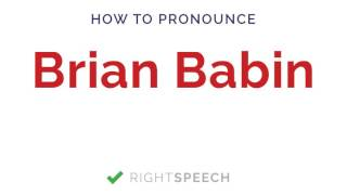 Brian Babin - How to pronounce Brian Babin - American Senator