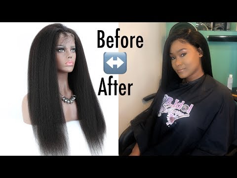 MUST HAVE WIG  KINKY STRAIGHT TEXTURE  LACE WIG FT EAYON HAIR