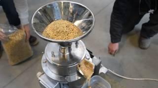Broyeur colloïdaul Enigma, Production de pâte de noix, Production de beurre d'arachide