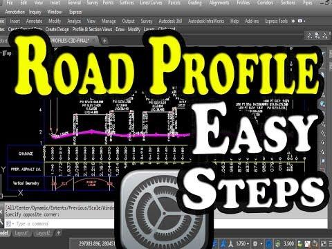 Autodesk Civil 3D Road Profile and Drawing Settings - Simple Road Profile - FREE TUTORIAL classes